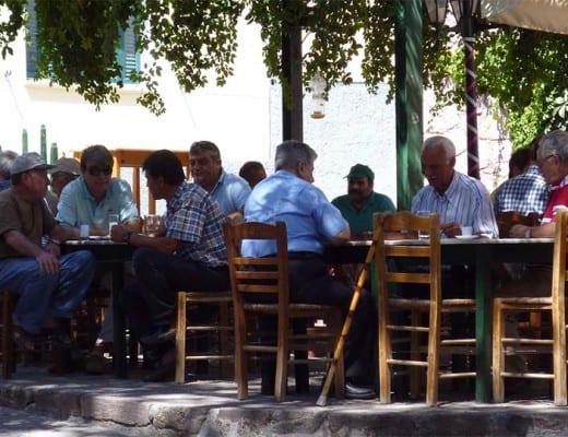 terras in griekenland