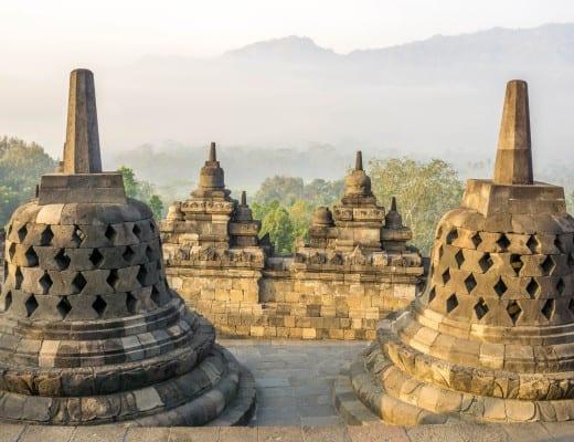 stupa's bij de borobudur