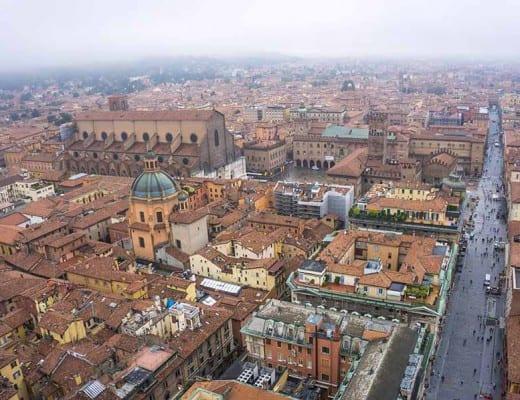 uitzicht over bologna