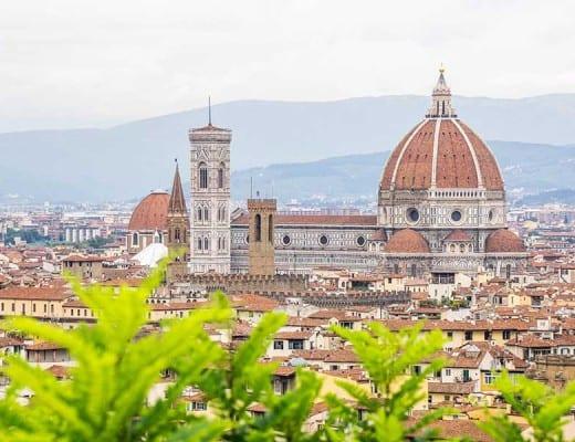 Uitzicht op de Duomo in Florence
