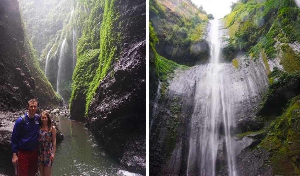 Madakaripura watervallen op Java in Indonesië