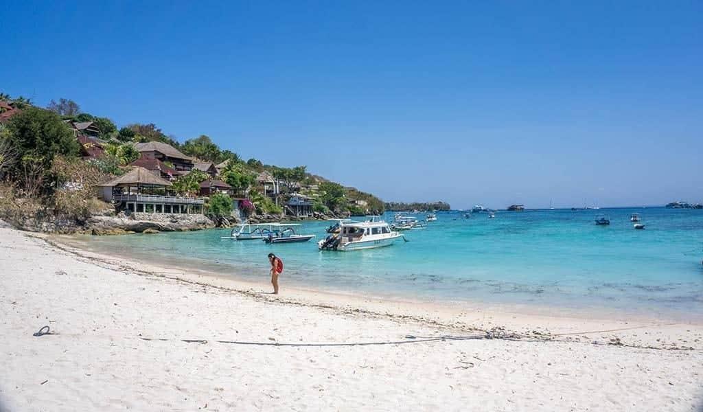 Strand Nusa Lembongan Indonesië