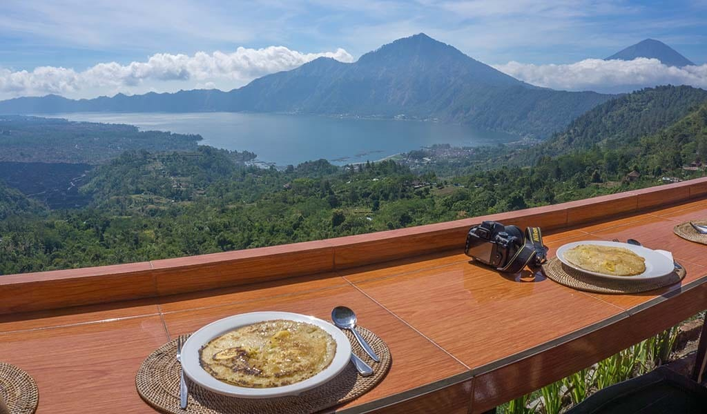 Ontbijt bij Fietstocht in Ubud