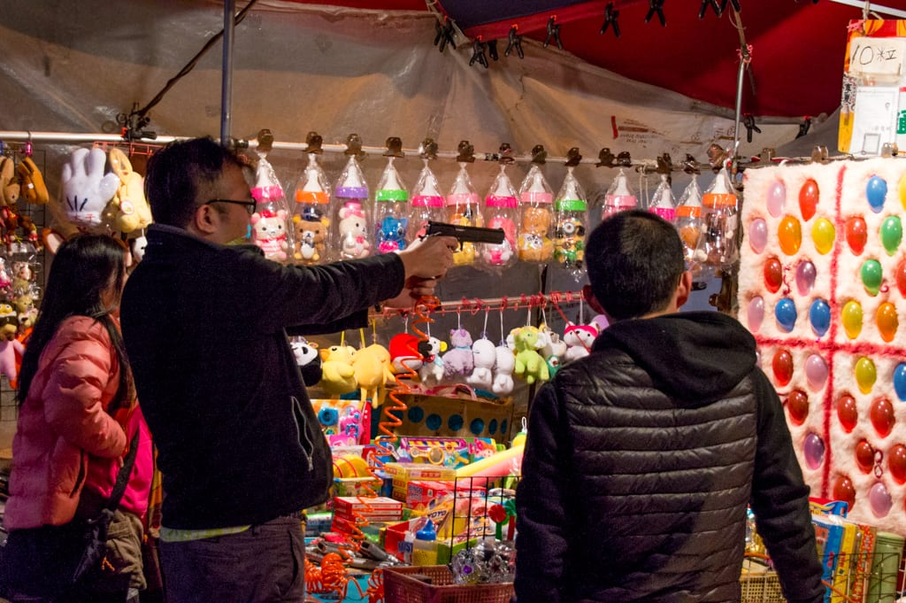 Spelletjes op de Night Market in Taipei