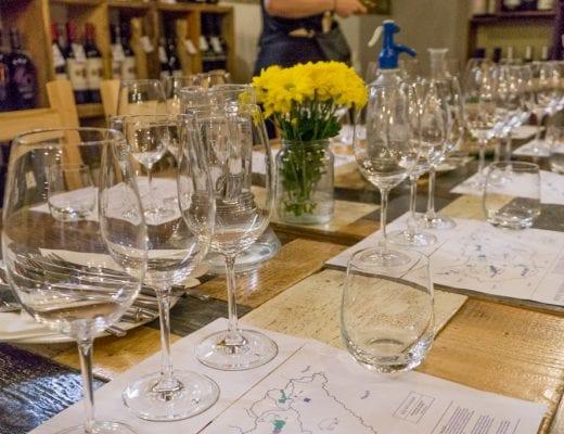 Gedekte tafel bij Tasting Table