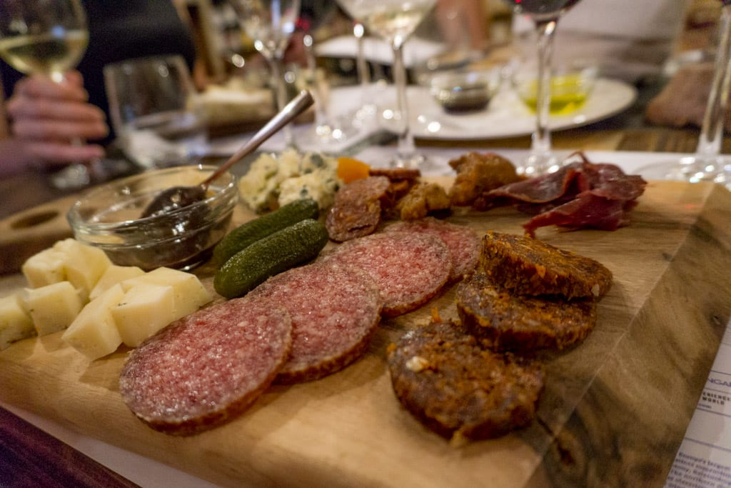 Charcuterie bij de Tasting Table