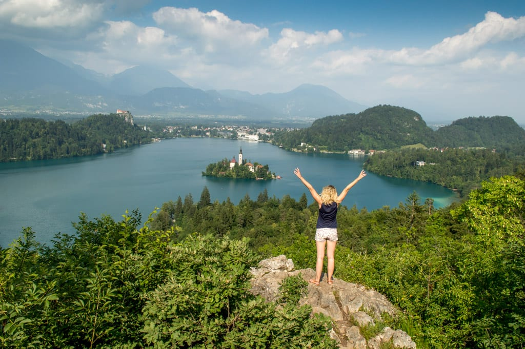 Uitzicht over Lake Bled