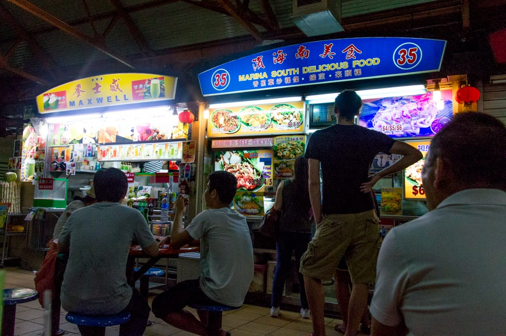 Maxwell Road Hawker Center in Singapore