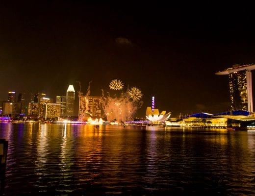 Vuurwerk in de Marina Bay