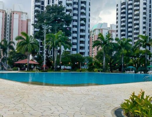 Zwembad van de Airbnb in Singapore