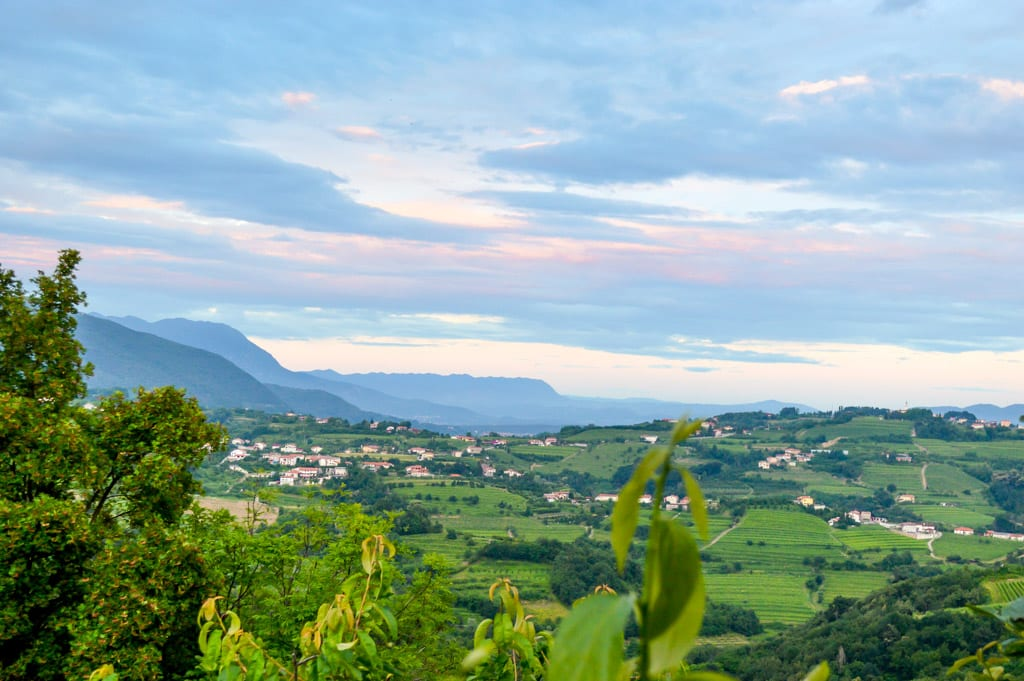 Uitzicht vanaf San Martin in Smartno