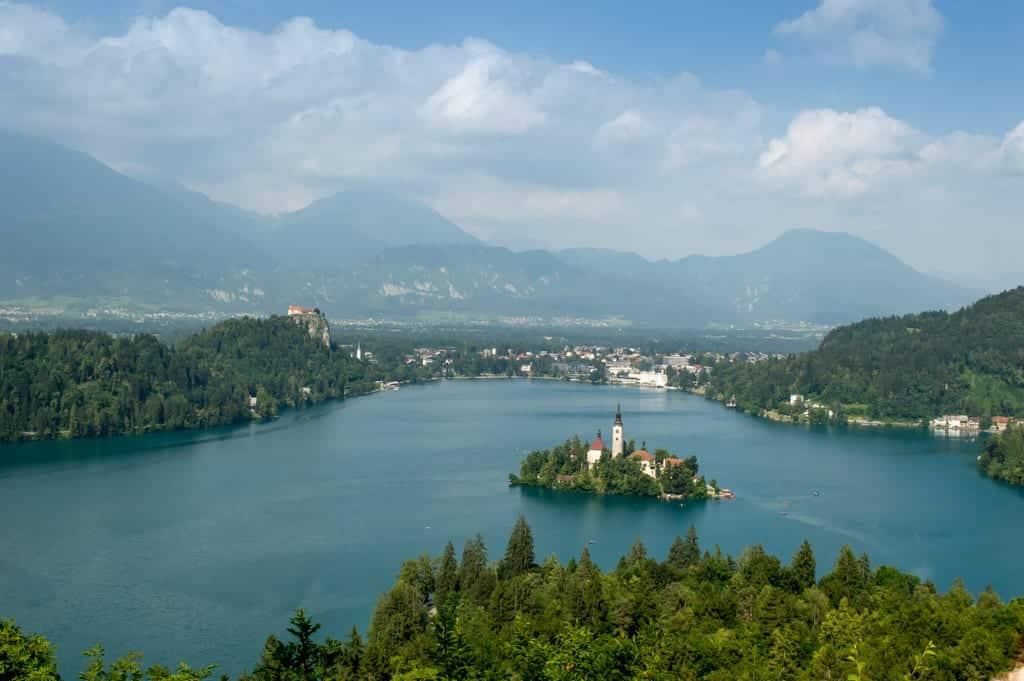 Uitzichtpunt op het Meer van Bled