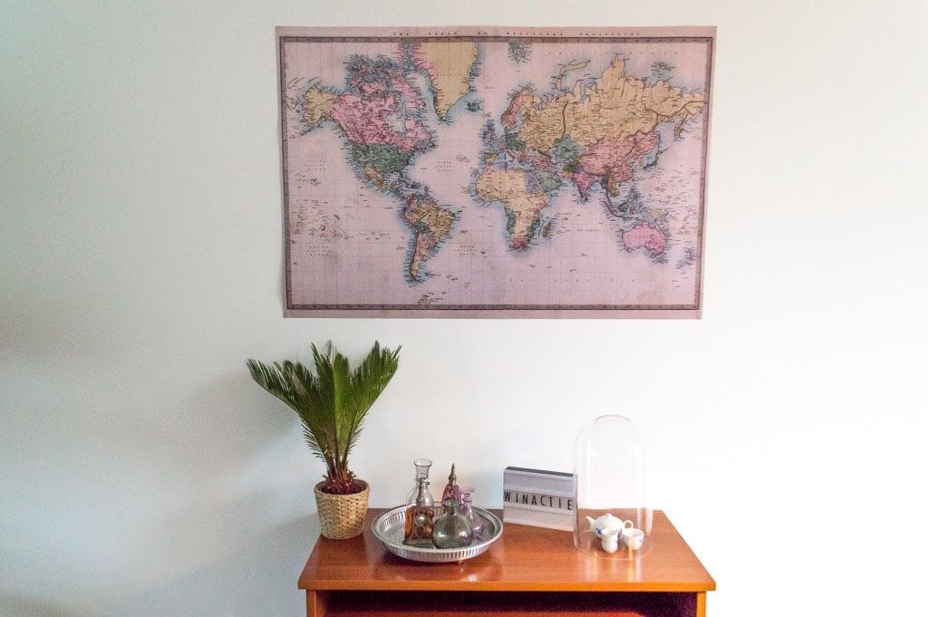 Woonkamer Met Wereldkaart : Winactie u ac tegoed voor wereldkaarten reisgenie