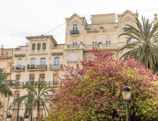 Oude huizen in Valencia