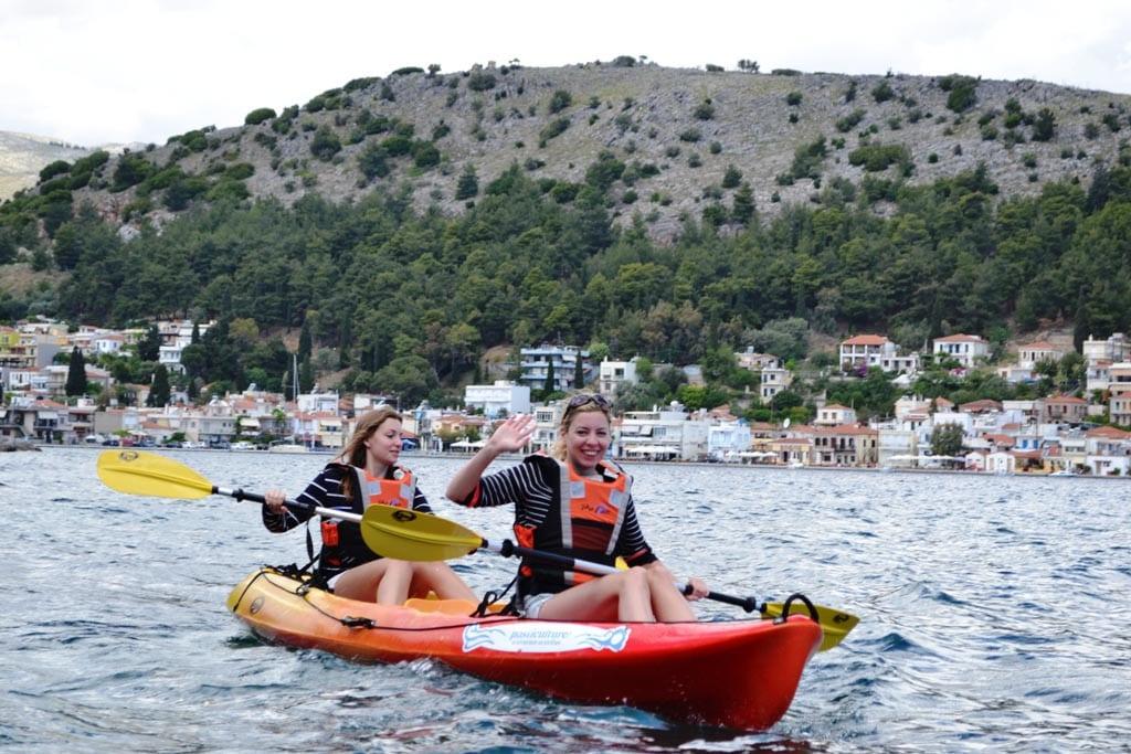 Kajakken op Chios