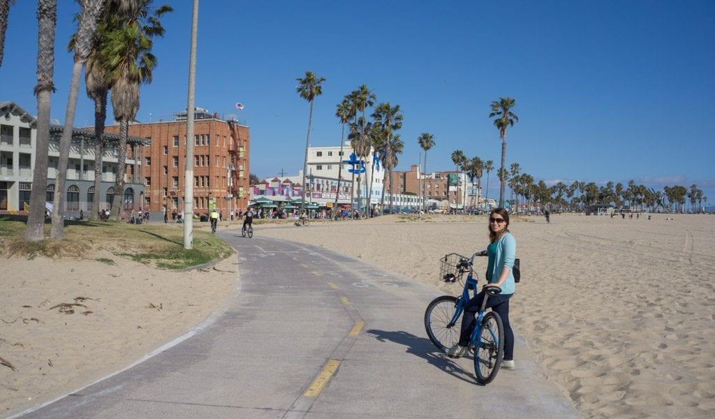 Doen in Los Angeles in een dag - Fietsen naar Venice Beach