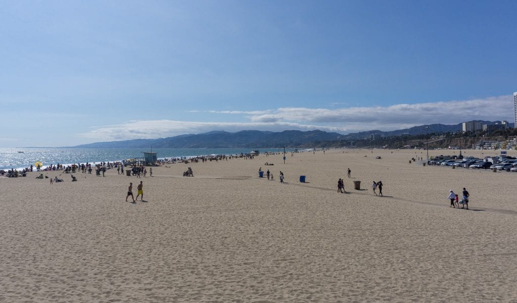 Doen in Los Angeles in een dag - Santa Monica beach