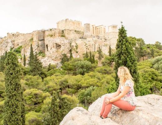 Uitzicht op het Parthenon