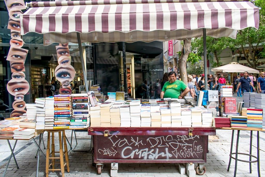 Boekverkoper in Plaka