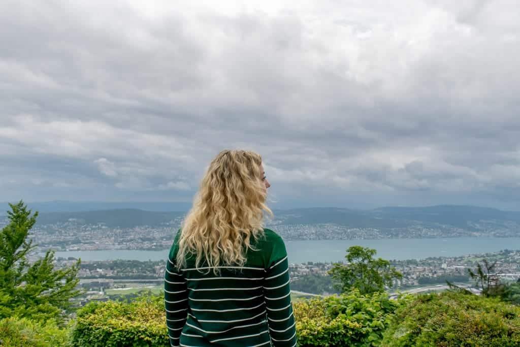 Uitzicht vanaf de Uetliberg in Zürich