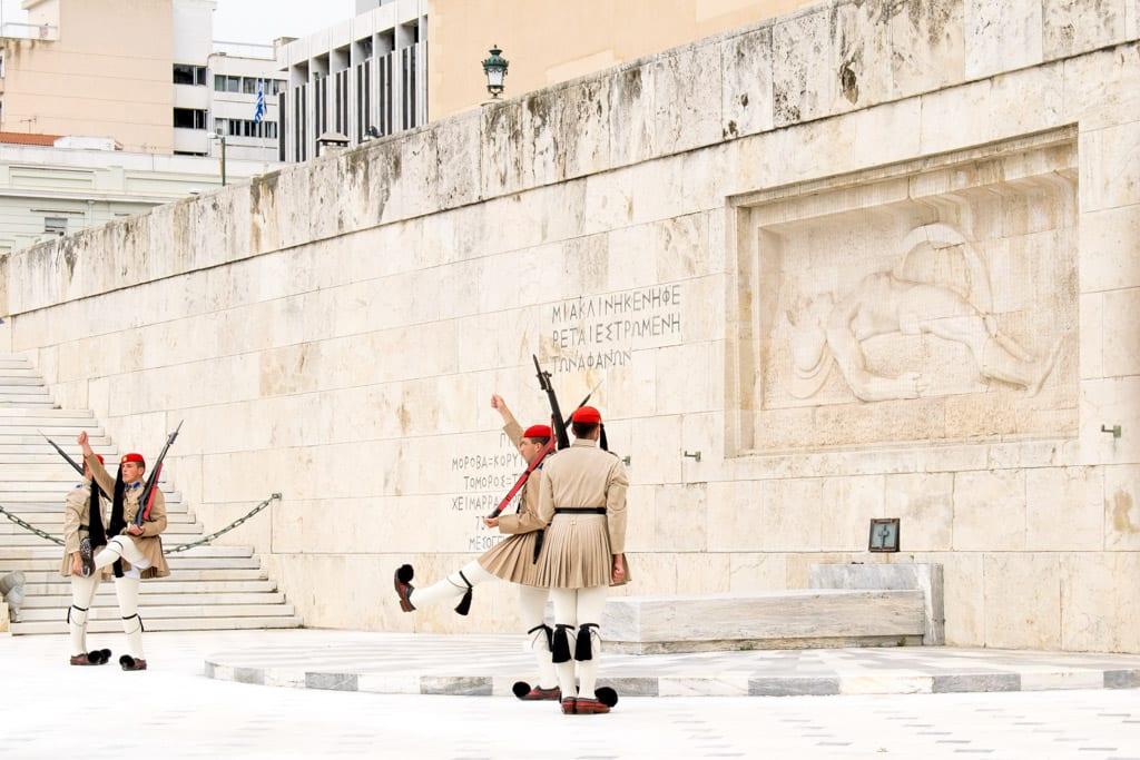 Wisseling van de wacht op het Syntagma Plein