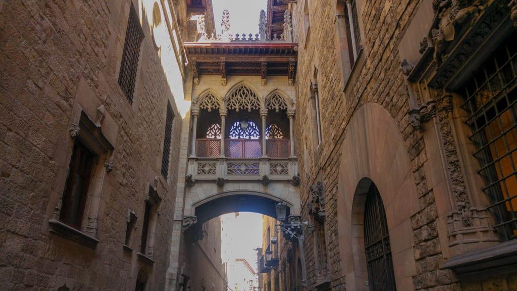 Gotische kathedraal in Barcelona