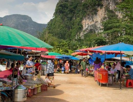 Markt bij Phang Nga