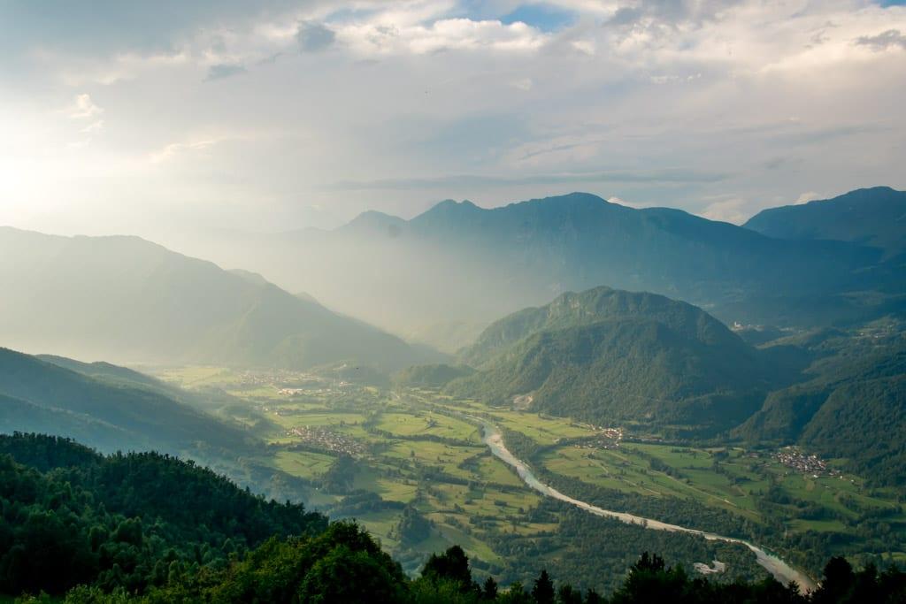 Uitzicht vanaf Nebesa Slovenië