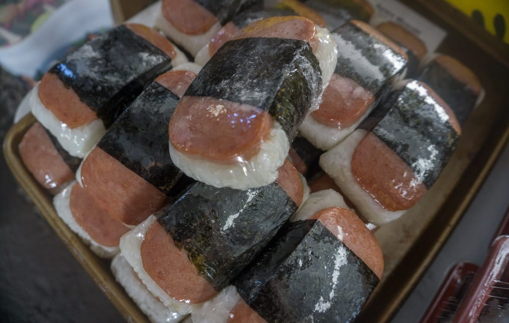 Eten Hawaii - Spam musubi