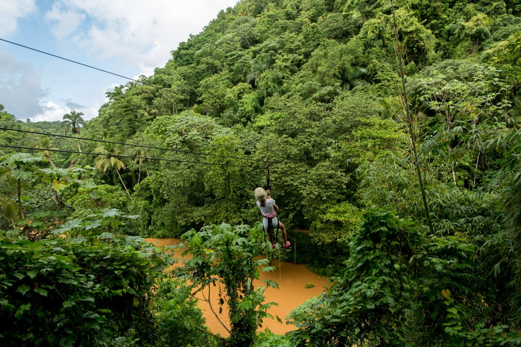 Zipline in de Dominicaanse Republiek
