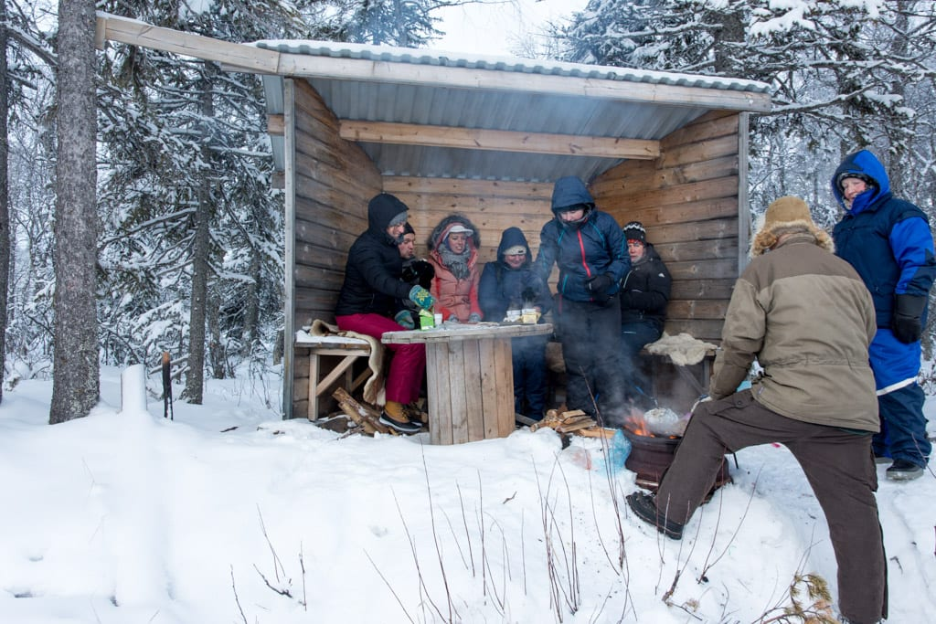 Winterbarbecue in Noorwegen